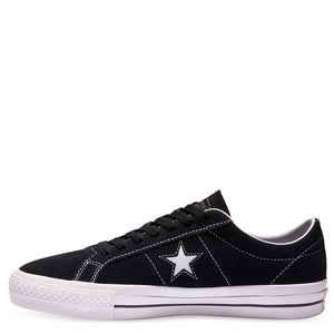 CONVERSE ONE STAR PRO LOW SUEDE - BLACK/WHITE