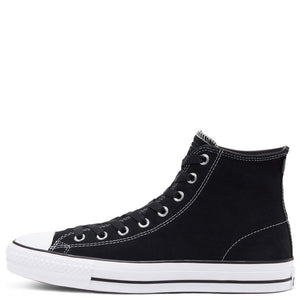 Converse Ctas Pro Hi - Black/White Suede | Pavement