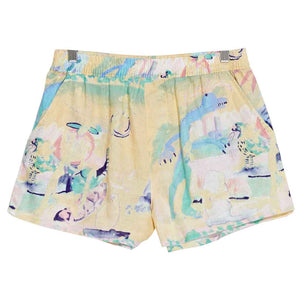 Misfit Jungle Soup Linen Short - Multi | Pavement