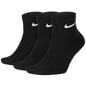 Nike Everyday Cushion Ankle Socks 3 Pack - Black | Pavement