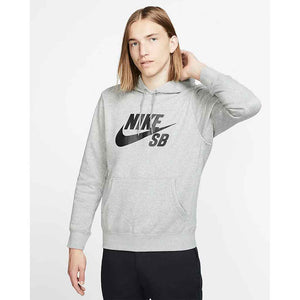 Nike SB Icon Pullover Hoodie - Grey Marle | Pavement