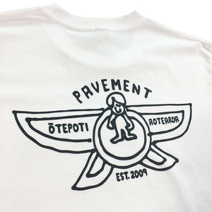 Pavement Sketchy Skateshop Gonz Tee - White/Pavement Grey | Pavement