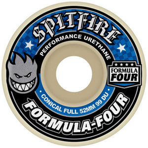 Spitfire Formula Four Conical Full 99a 52mm Wheels | Pavement