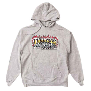 Thrasher Krak Skulls Hood - Heather Grey | Pavement