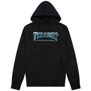 Thrasher Black Ice Hood - Black | Pavement