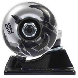 Tensor Darkstar Dissent Truck & Wheel Combo - Raw/Black 5.25"