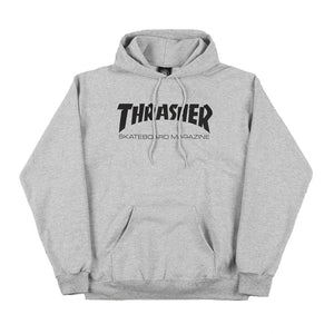 Thrasher Skate Mag Hood - Light Grey | Pavement