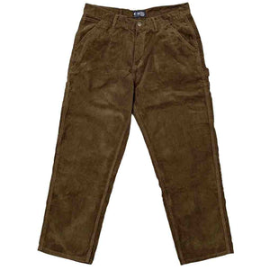 Vic Baggy Cord Carpenter Pants - Brown | Pavement