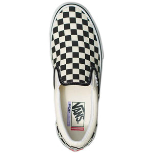 Vans Skate Slip On - Checkerboard Black/Off White | Pavement
