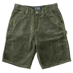 Vic Cord Carpenter Shorts - Moss Green | Pavement