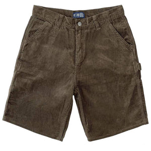 Vic Cord Carpenter Shorts - Brown | Pavement