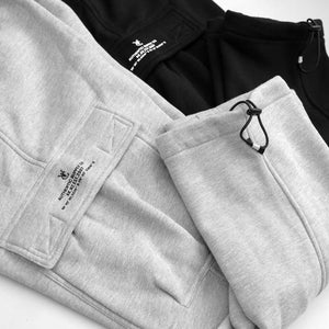 VIC CARGO SWEAT PANTS - BLACK