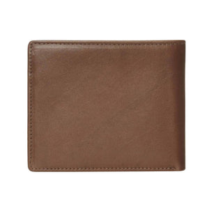 VOLCOM SINGLE STONE LEATHER WALLET - BROWN STONE