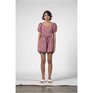 Thing Thing Ivy Shorts - Pink Check | Pavement