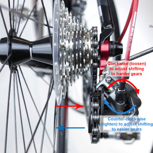 How to adjust the rear derailleur (gear)