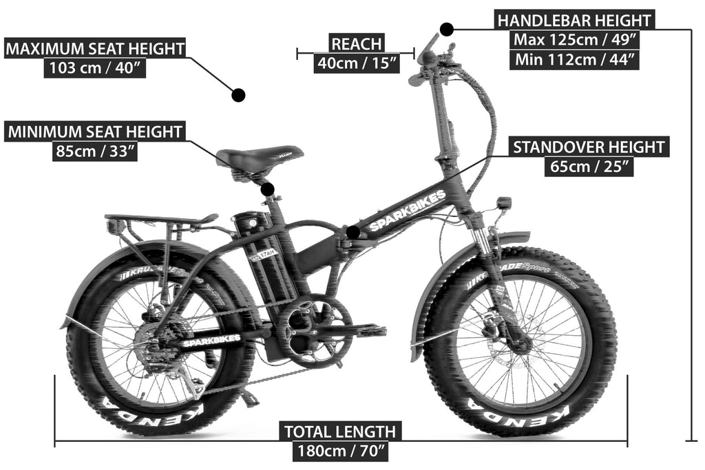 Spark Electric Bike Sizing (eBike)