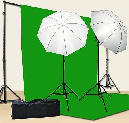 Chromakey Green Screen Kit 800w Photo Video Lighting Kit