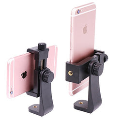 Ulanzi Tripod Mount /Vertical Bracket Smartphone Holder/Phone Clip Clipper Tripod Adapter for iPhone Samsung Smart Phones