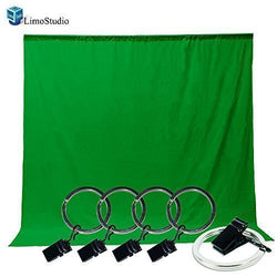 LimoStudio Photo Video Photography Studio 6x9ft Green Muslin Backdrop Background Screen with 5x Backdrop Holder Kit, AGG1338