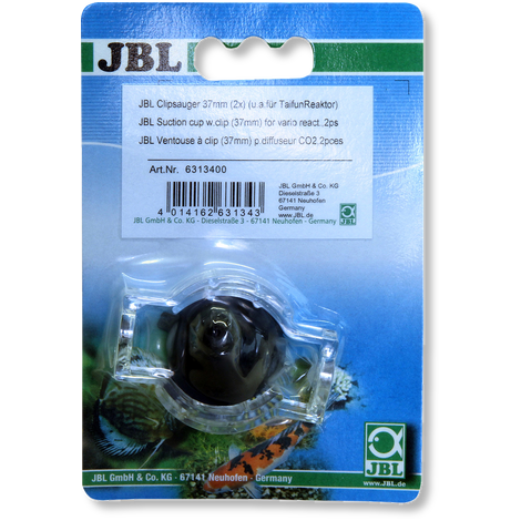 JBL Ventouse à clip (37mm) p.diffuseur CO2 (2x)