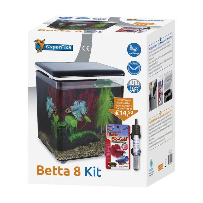 BETTA 8 KIT - AQUARIUM EN KIT