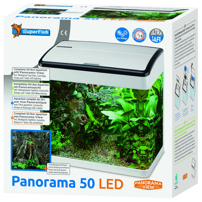 SUPERFISH Aquarium PANORAMA 50 Blanc - 50L