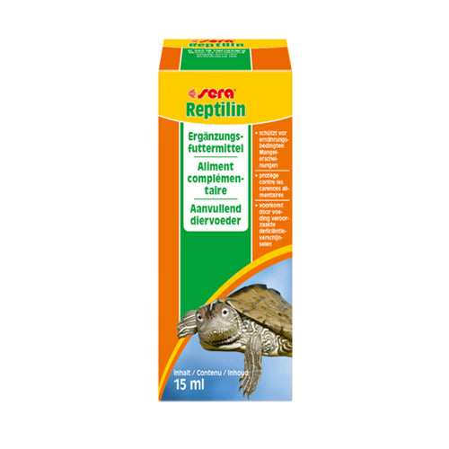 SERA REPTILIN - VITAMINES POUR REPTILES (TORTUES) 15ML