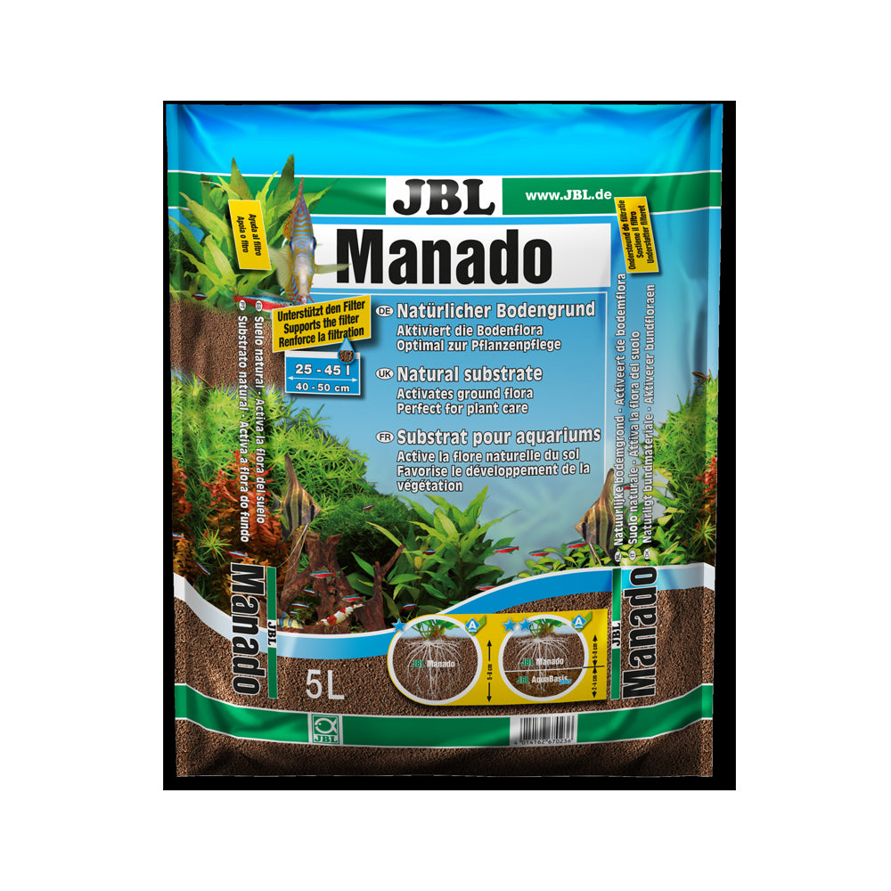 JBL Manado 5L 0,5-2MM - Substrat de sol naturel pour aquariums d'eau douce