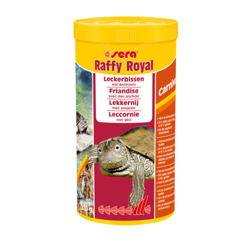 SERA RAFFY ROYAL 1000ML 220G - Alimentation variée pour tortues (anchoix)