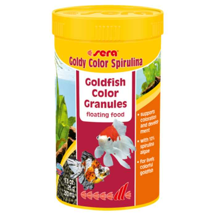 SERA GOLDY COLOR SPIRULINA 250ML - NOURRITURE POISSONS ORANDA'S