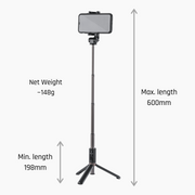 Wireless Tripod & Selfie Stick (w/ Bluetooth Remote) - ShiftCam