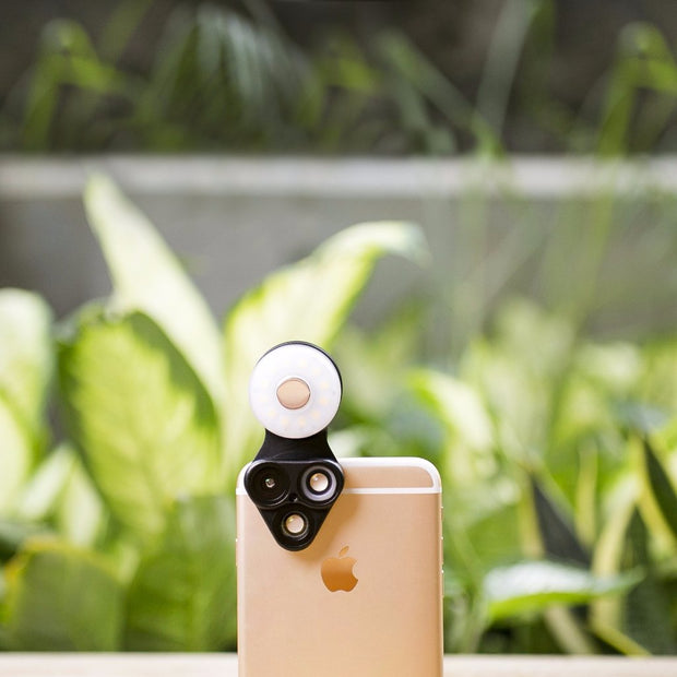 Limited edition - RevolCam in Flamingo with Rose Gold Light - ShiftCam