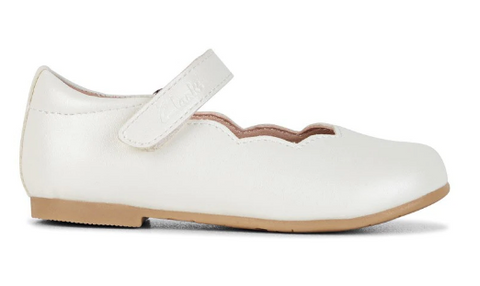 Clarks AUDREY JRN White Pearl