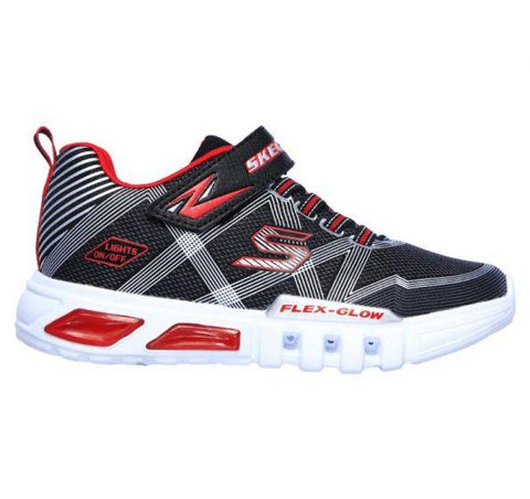 Skechers KIDS S LIGHTS: FLEX-GLOW Black/Silver
