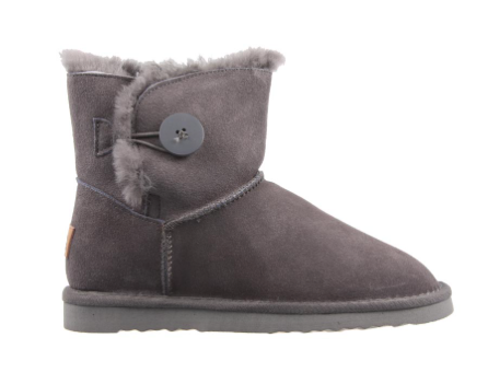 Grosby BUTTON UGG Dark Grey