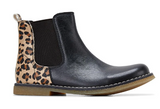 Clarks CHELSEA INFANT Black/Leopard
