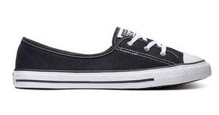 Converse WOMENS ALL STAR DAINTY BALLET SLIP Black/White