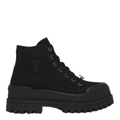 Windsor Smith DESERVE BLACK CANVAS BOOT
