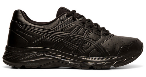 Asics WOMENS GEL-CONTEND 5 SYNTHETIC LEATHER Black/Graphite Grey