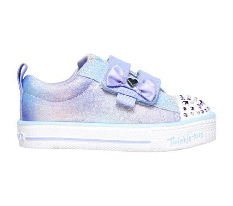 Skechers INFANT GIRLS' TWINKLE TOES: TWI-LITES - MISS HOLLA-GLAM LIGHT Blue/Silver
