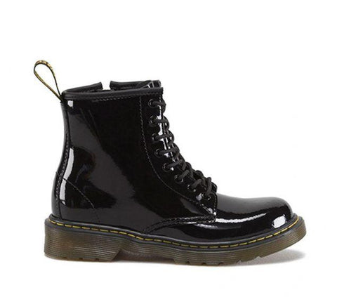 Dr. Martens Junior DELANEY BOOT Black Patent