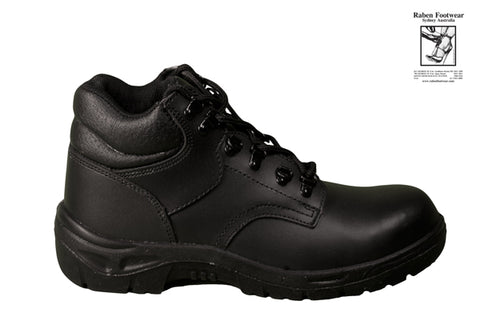 Raben STEEL LACE UP 6 EYELET WORK BOOT Black