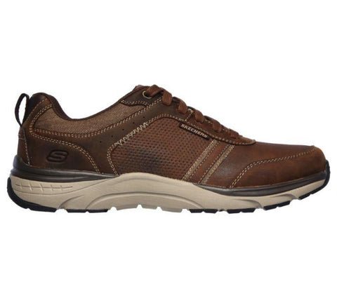 Skechers MEN'S RELAXED FIT SENTINAL-LUNDER Dark Brown