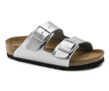 Birkenstock KIDS ARIZONA BIRKO-FLOR Silver Sandals