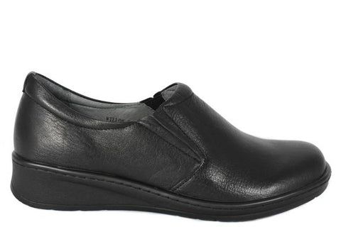 Women's comfort leather slip ons. Perfect for work, with soft leather, and soft soles.
