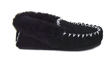 MOCCASINS Adults XL Black