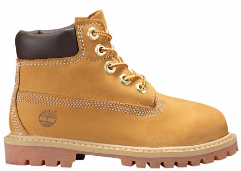 Timberland Toddler 6-Inch PREMIUM Waterproof Boots Wheat Nubuck