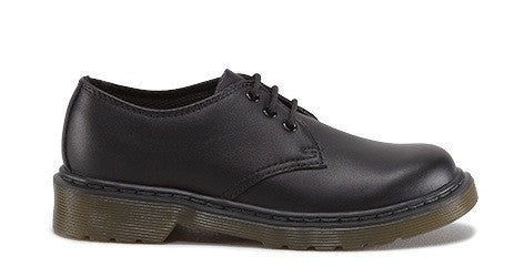 Dr. Martens Junior EVERLEY Black Leather Shoes