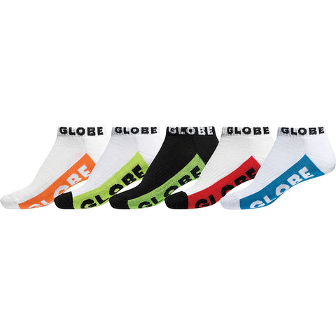 Globe MULTI BRIGHTS ANKLE SOCK 5 Pack Assorted