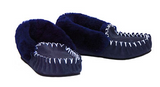 MOCCASINS Adults Navy Slippers